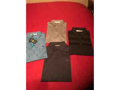 4 Medium Travis Mathew Polo Shirts $300 Retail