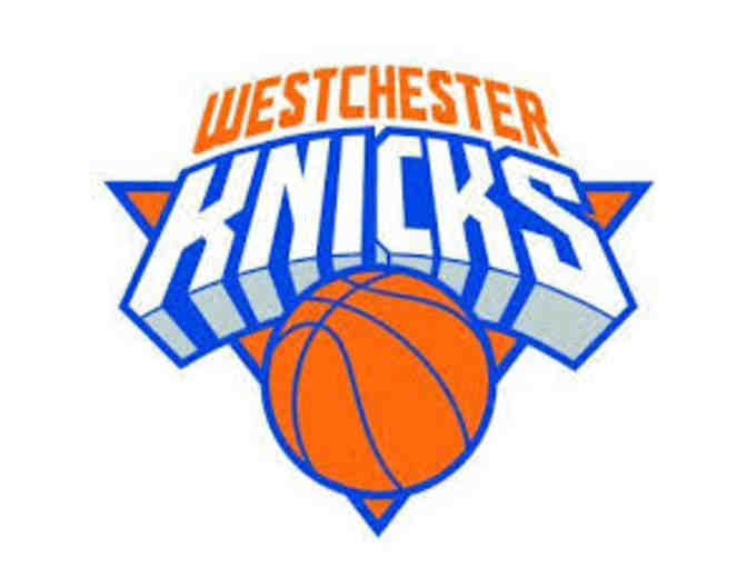Two (2) to a Westchester Knicks Game small signed Basketball and tee shirt!