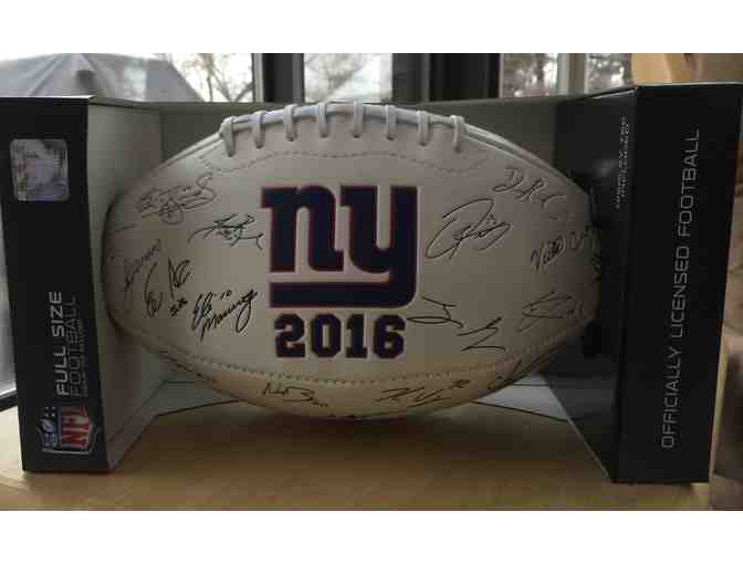 2016 NY Giants Embossed Team Collector's Football