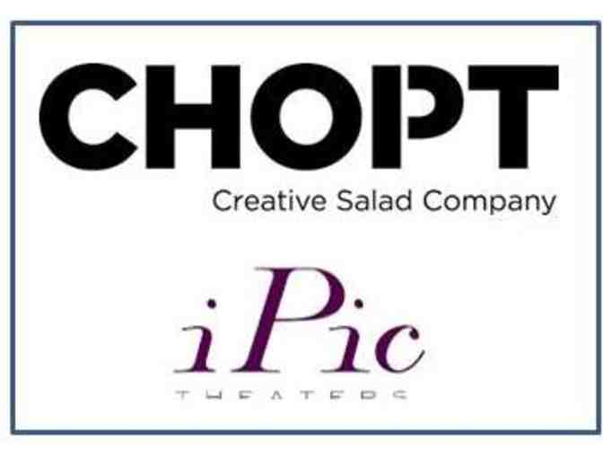Two (2) Lettuce Buy You Lunch Coupons CHOP'T & two (2) iPic Premium Plus Movie Passes