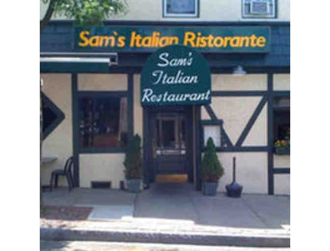 $ 50.00 Gift Certificate to Sam's Italian Restaurant - Photo 1