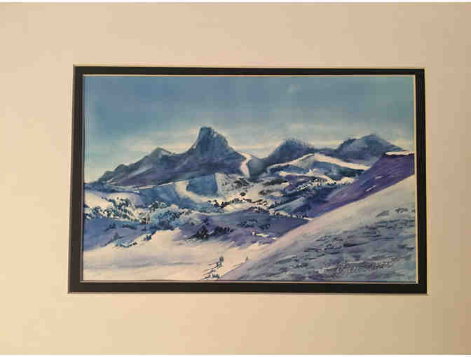 Mountain Winter painting by Marian Newcomer