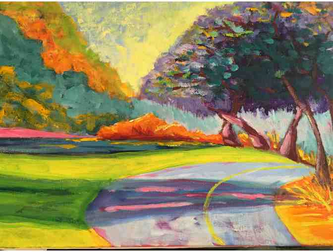 The Bike Path painting by Caryl Ricca