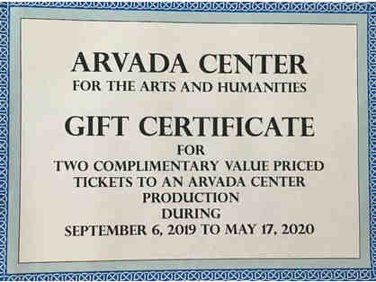 Arvada Center Gift Certificate