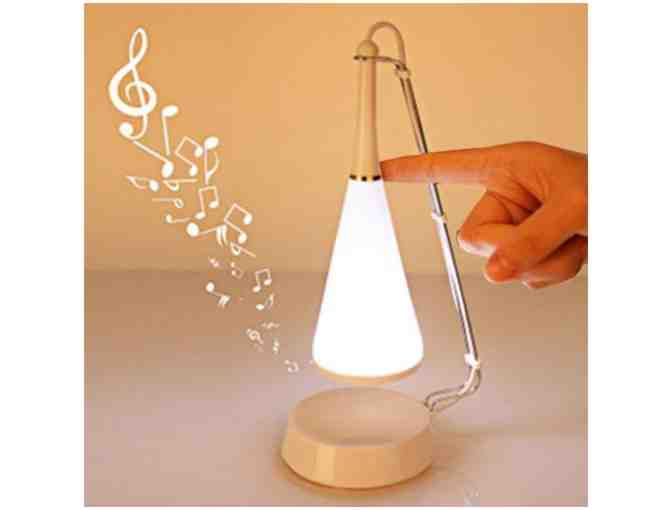 Touch-Sensitive LED Desk Lamp with Mini Speaker - Photo 1