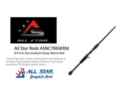 Fishermen!  All Star Baitcast Worm Rod