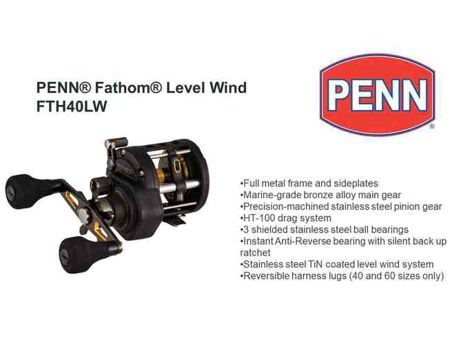 Fishermen!  Penn Conventional Reel, Fathom Level Wind - Photo 1