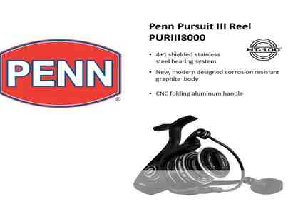 Fishermen!  Penn Large Spilling Reel, Pursuit III