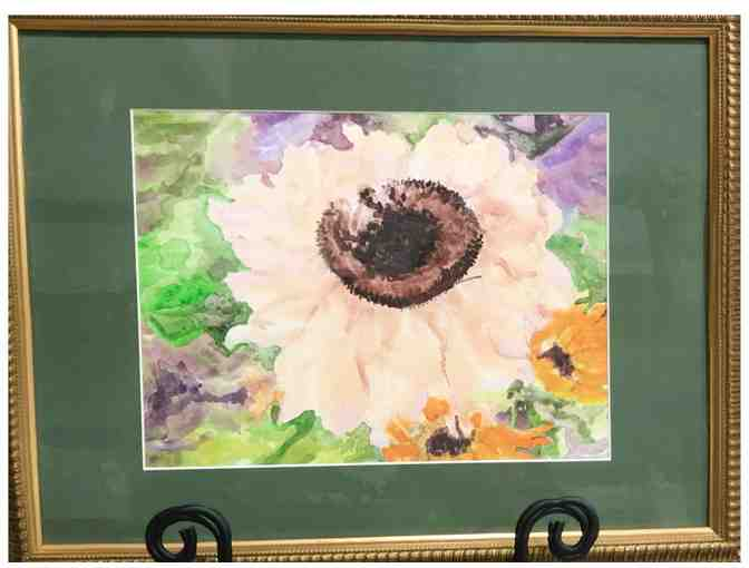 Bobi Lyon floral acrylic painting, framed - Photo 1