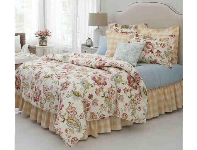 Jacobean Floral Quilt and Pillow Shams from Country Curtains
