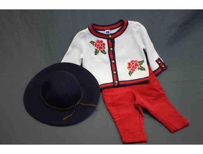 Janie and Jack Infant Outfit with Hat - Photo 1