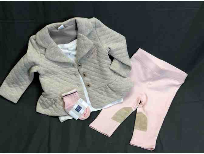 Janie and Jack Infant Girl Tufted Jacket Outfit - Photo 1