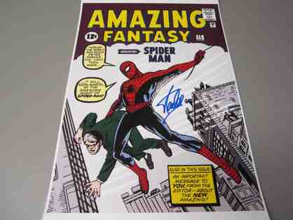 Stan Lee Autographed Spiderman Poster