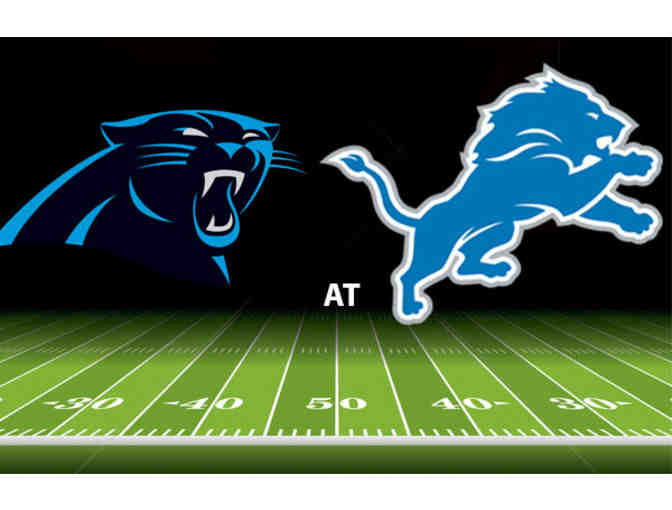 4- Detroit Lions Tickets October 8 vs Carolina Panthers Club Level Sideline