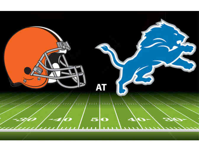 4- Detroit Lions Tickets November 12 vs Cleveland Browns Lower End Zone