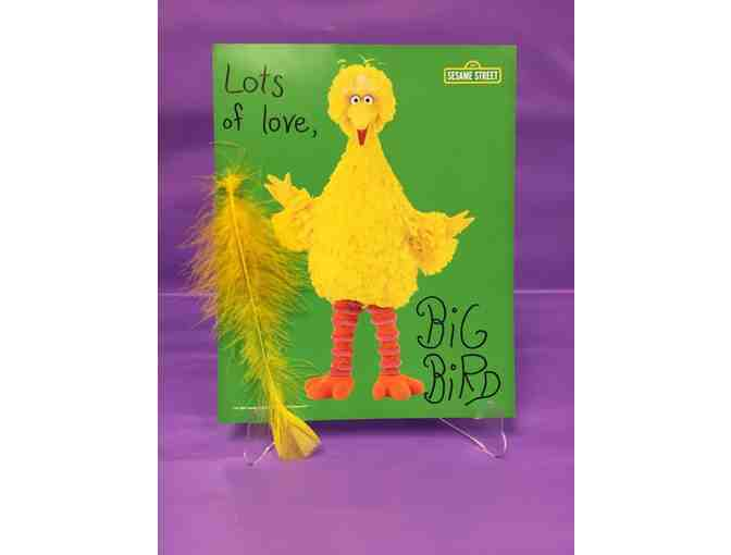Autographed Photo and Feather of Big Bird from Sesame Street