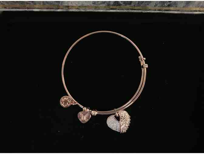 Heart With Angel Wings Expandable Bracelet