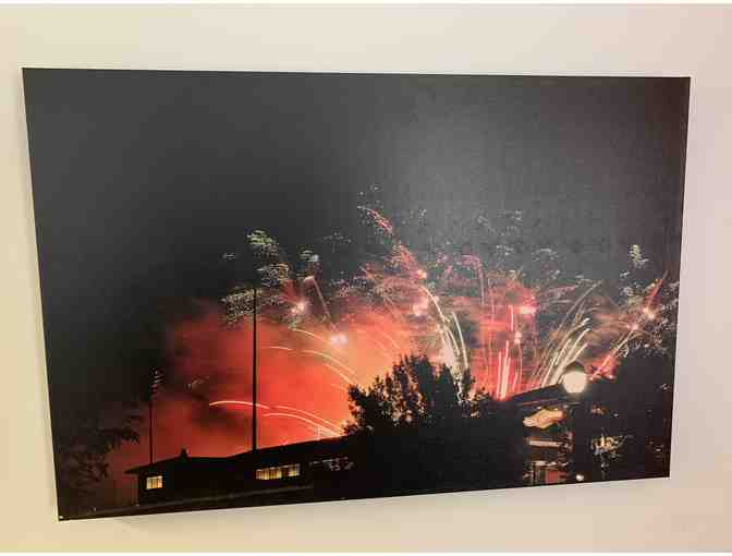 Fireworks Over Dow Diamond Canvas Wall Art