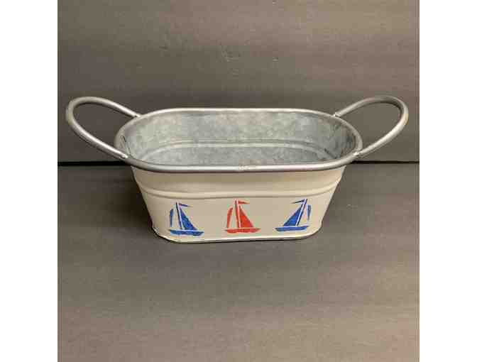 Sailboats Galvanized Pail