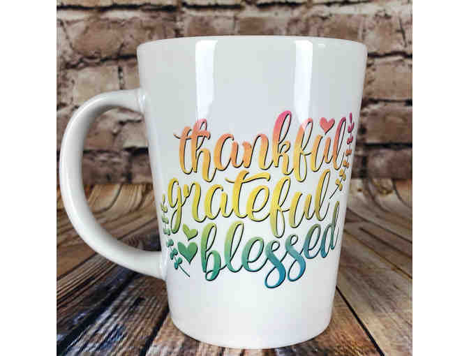 'Thankful, Grateful, Blessed' Latte Mug