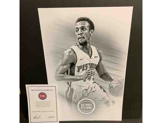 Detroit Pistons Ish Smith Autographed Poster