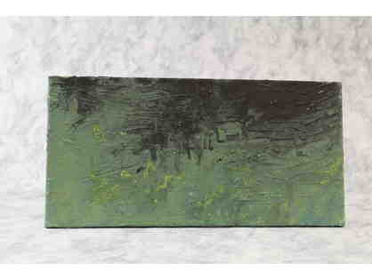 Green and Black Texture Paint Canvas