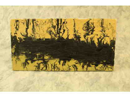 Yellow with Black Texture Paint Canvas