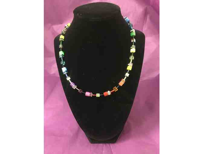 German Glass Multi-colored Necklace