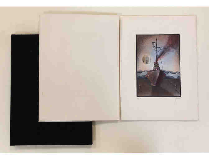"Artist's book/portfolio ""promenade d'un batteau"" by Moshe Malka - Photo 1"