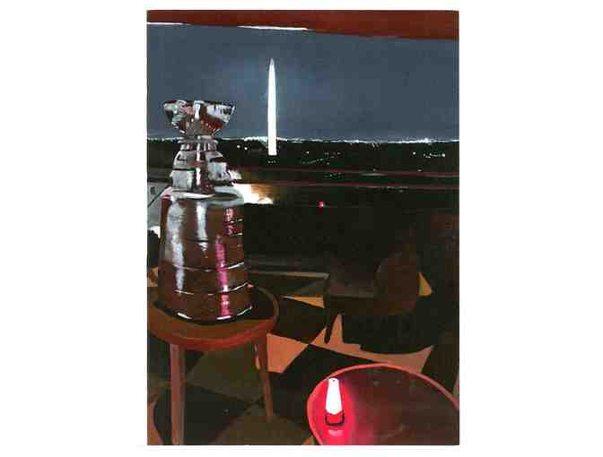 "20"" x 24"" Framed, Double-Matted ""Lord Stanley in DC"" Print by Artist Richard Svec - Photo 2"