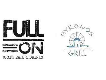 $50 Gift Card Mykonos Grill + $25 Gift Card Full On Craft Eats and Drinks - Rockville, MD