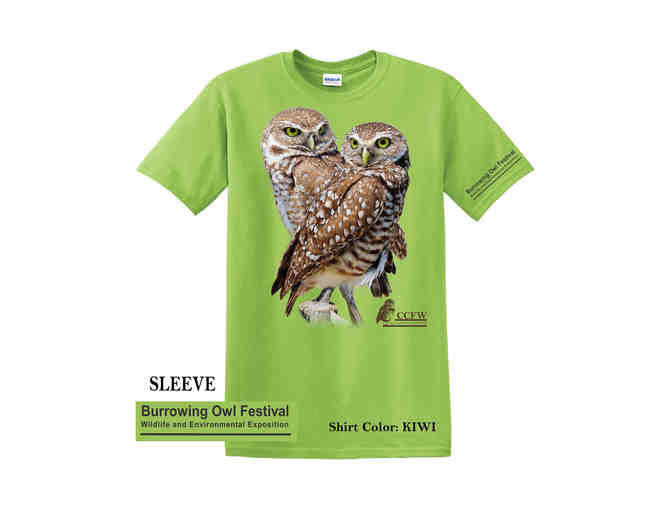 Kids Crew Neck Burrowing Owl Pair in Kiwi and Daisy - Photo 2