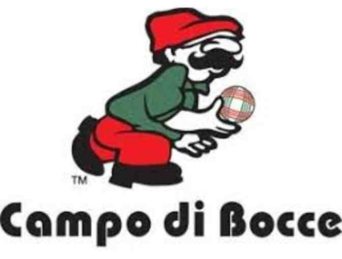 Bocce Party at Campo di Bocce for 10