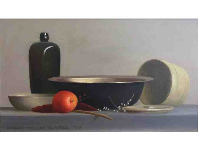Robert Douglas Hunter, 'Metal, Glass and Pottery with an Apple'