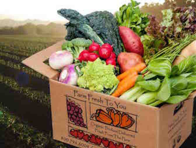 Farm Fresh to You - Home Delivery of a Box of fresh, organic fruits & vegetables