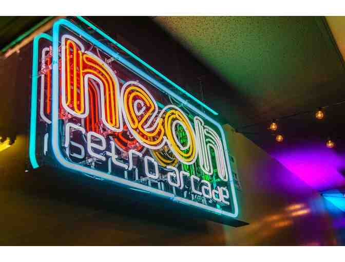Neon Retro Arcade in Pasadena - 2-hour admission cards for 3 people