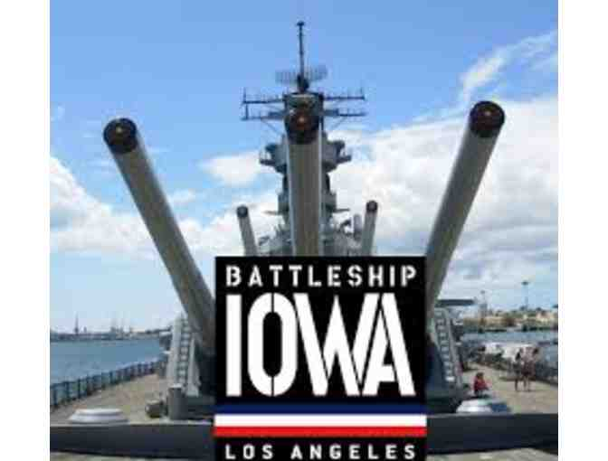 Battleship USS Iowa in San Pedro, CA - 4 Tickets