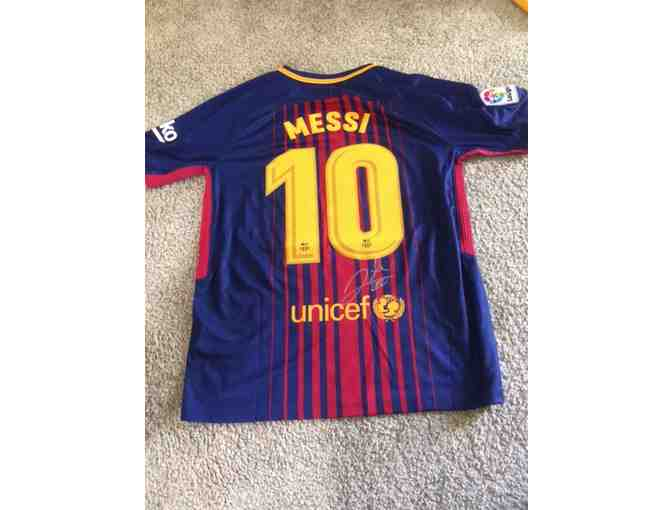 Lionel Messi Barcelona Autographed Soccer Jersey