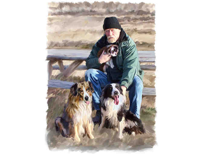 Custom Painted Portrait by Fine Artist Sharyn Richardson