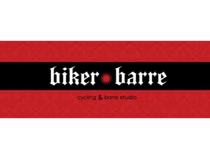 One Month Unlimited Indoor Cyclying and Barre Class at Biker Barre!