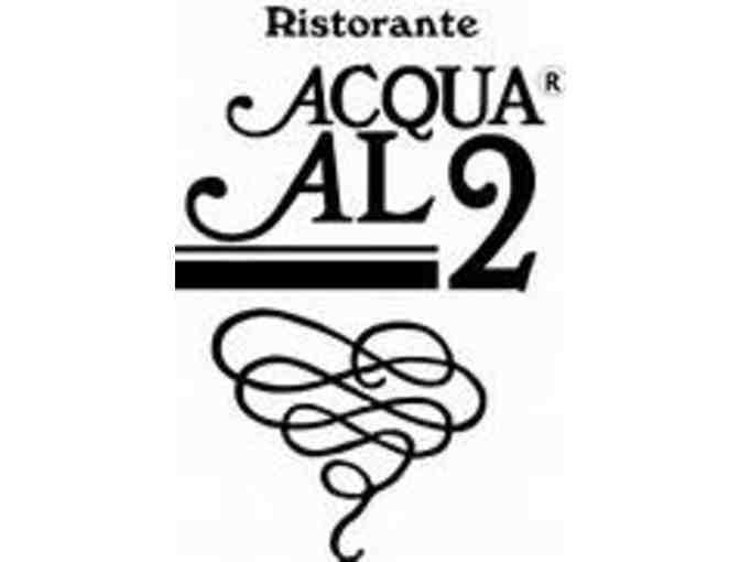 Experience Florence Right Here on Capitol Hill at Acqua al 2