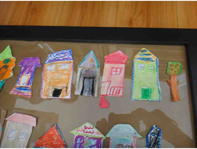 Collage of Row houses by Ms. Godsoe's class