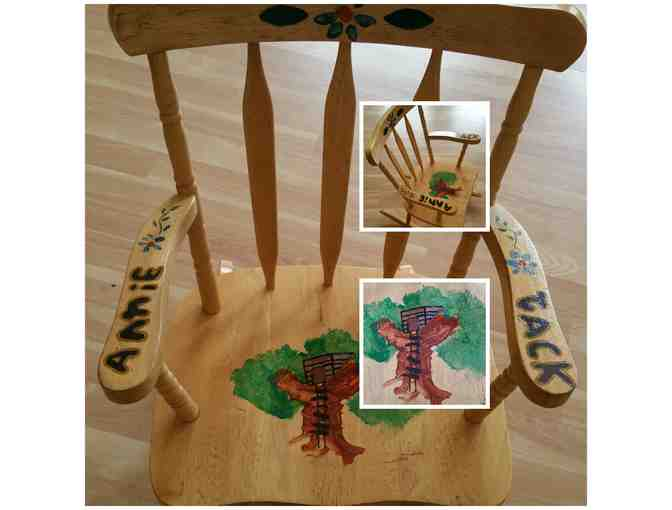 Rocking Chair decorated by Ms. Steven's class
