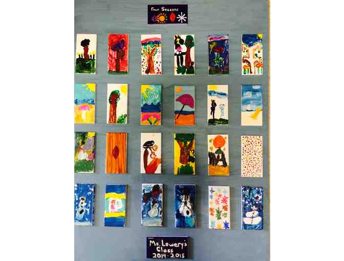 'Four Seasons' Tile Quilt by Ms. Lowery's Class
