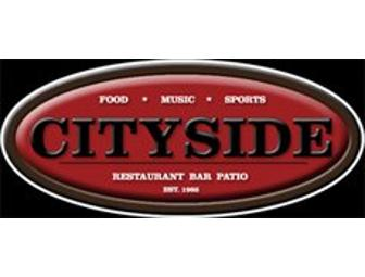 Cityside Restaurant and Bar gift certificate