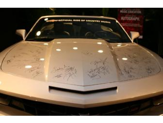 2013 Chevrolet Camaro Convertible & collectible autographed hood