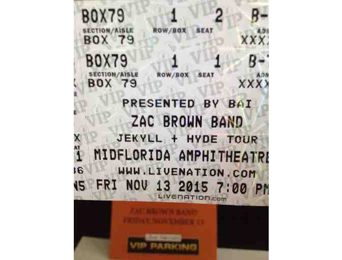 2 VIP Tickets - Zac Brown Concert
