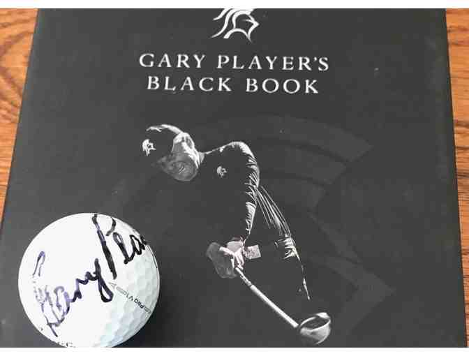 Gary Player - Autographed Ball and Book Written by the Legend Himself