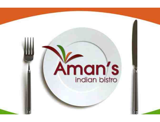Aman's Indian Bistro - $15 Gift Certificate