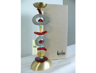 Lalo Treasures colorful resin candlestick